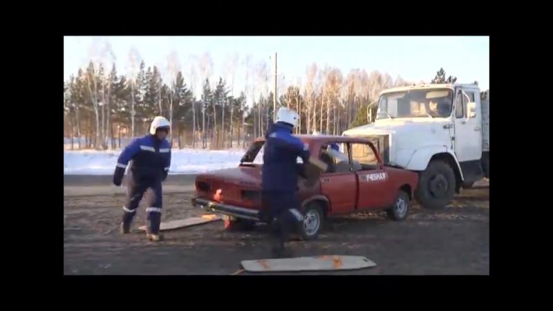 Тактико-специальные учения по реагированию на ДТП Кемерово