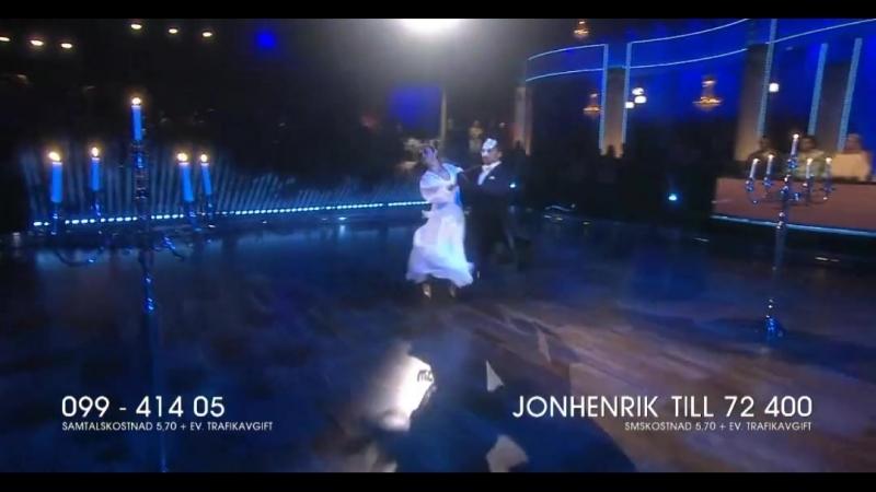 Jon-Henrik Fjällgren och Katja Luján Engelholm-Tango.(Let s Dance 04.05.2018.)