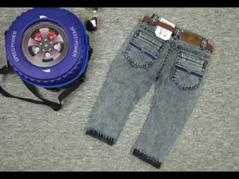 SPBC 003 Quần Jeans trẻ em Dài cà Hiệu Bosono