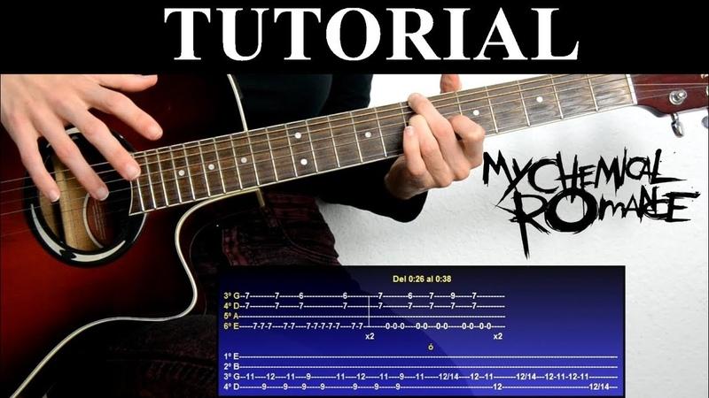 Cómo tocar The ghost of you de My chemical romance (Tutorial de Guitarra) / How to play