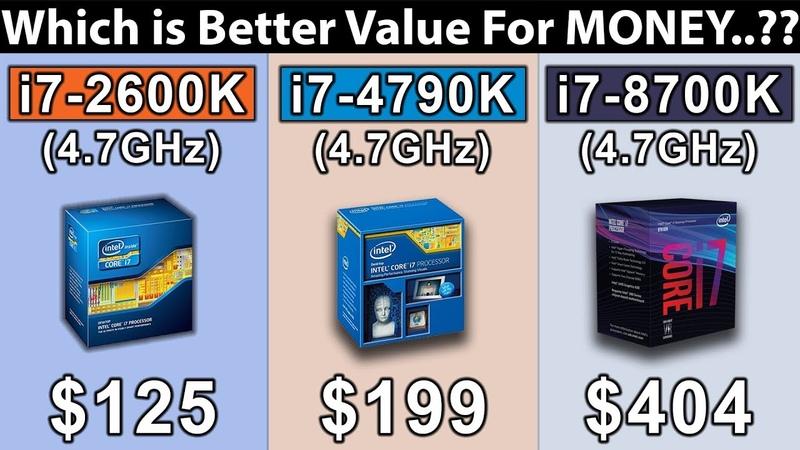 I7 2600K (4.7GHz) vs i7 4790K (4.7GHz) vs i7 8700K (4.7GHz) | New Games Benchmarks