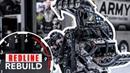 11 000 hp HEMI V 8 engine time lapse DSR's U S Army NHRA Top Fuel dragster Redline Rebuild S2E3