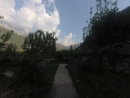 Kullu Valley Rural Walk. Apple and apricot orchards, wheat fields and Manali - Leh Highway.