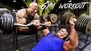 John Cena VS Dwayne The Rock Johnson - WWE Gym Workout
