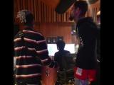 Архивная запись XXXTentacion и PnB Rock на студии НШ