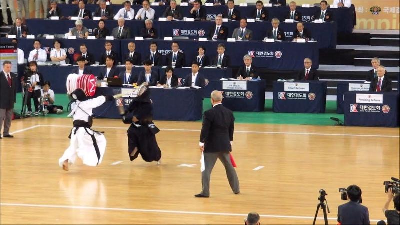 [ハイライト] 韓国vs日本 - 第17回世界剣道選手権大会 男子団体 決勝