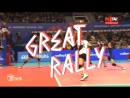 Fantastic Volleyball Actions RUS vs THA GREAT RALLY DIGS SAVES Volleyball Nations League 2018
