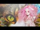 Весенняя кошка ООАК 2 🌸😺🌸 Как сделать сменные уши для кукол Monster high Кэтрин де Мяу