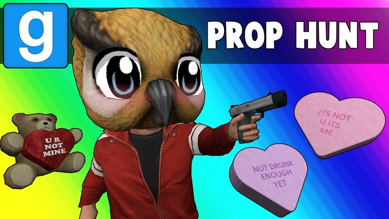 Gmod Prop Hunt Funny Moments - Date Night and Panda Malfunction (Garrys Mod)