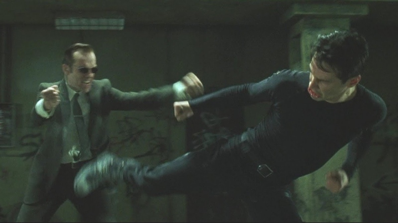 Бой Нео против агента Смита в метро Матрица 1999 The battle Neo vs Agent Smith in the subway