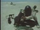 Egyptian soldiers hitting israeli tanks