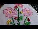 Hand embroidery designs Beautiful flower stitch Net stitch or detached button hole stitch