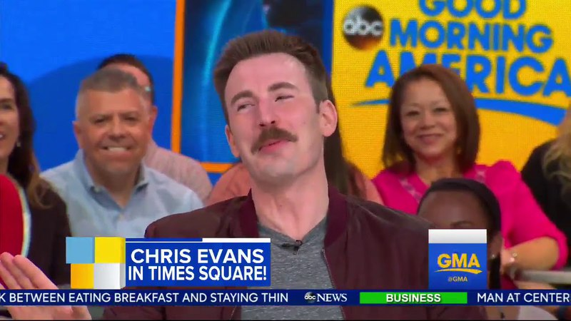 Chris Evans on GMA April 23rd 2018