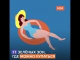 Отдых у воды в Москве