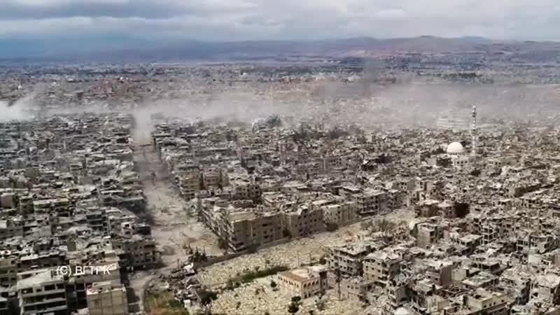Уничтожение лагеря палестинских беженцев под Дамаском