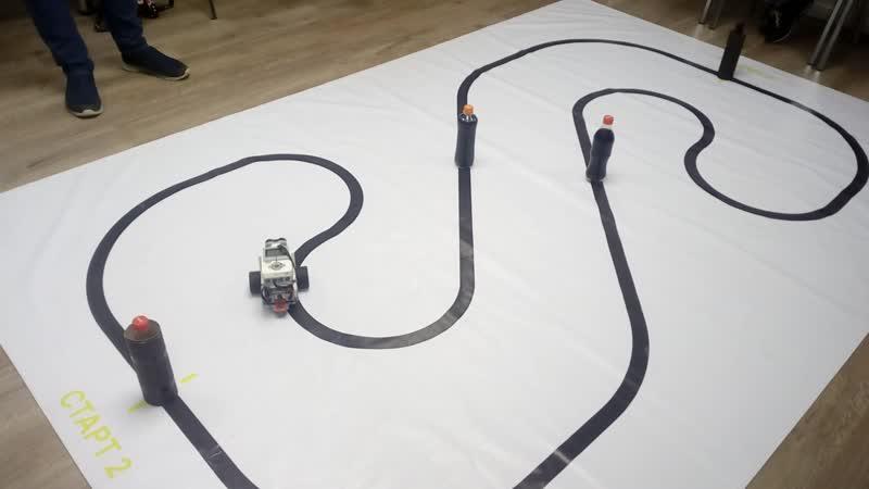 Выпускной по робототехнике Lego Mindstorms 4 модуль Яншин Тимур Второй заезд