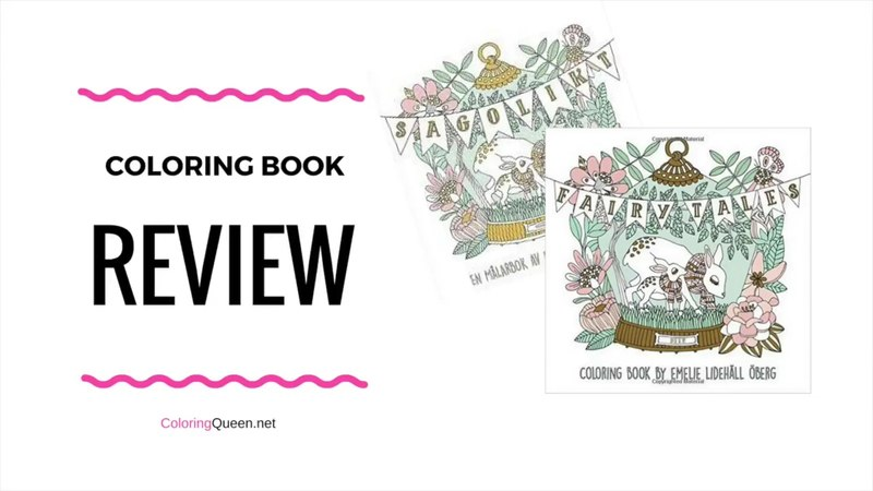 Fairy Tales Coloring Book Review by Emelie Lidehall Oberg (first published as Sagolikt)