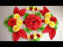 DIY. Simple Home Decor. Wall Decoration. Hanging Flower. Paper Craft Ideas 21