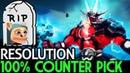 Resolution Sven 100% Counter Pick RIP Meepo 7 18 Dota 2