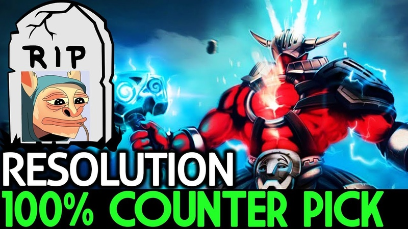 Resolution [Sven] 100% Counter Pick! RIP Meepo 7.18 Dota 2