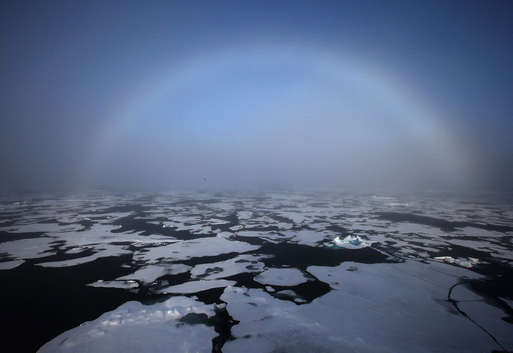 27 август 2013 Арктика. Белая радуга в Чукотском море