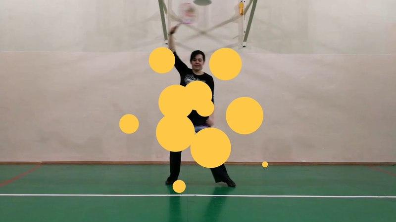 Ролибол в России - Тренировка по Фристайлу 2 ракетки и 2 мяча