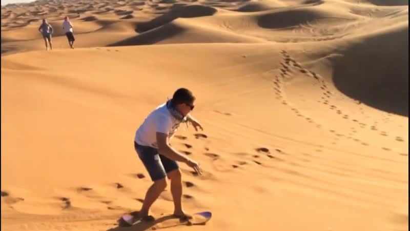 Sand boarding 🏂 Dubai 2018