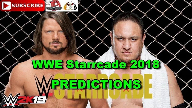 WWE Starrcade 2018 A J Styles vs Samoa Joe Steel cage match Predictions WWE 2K19