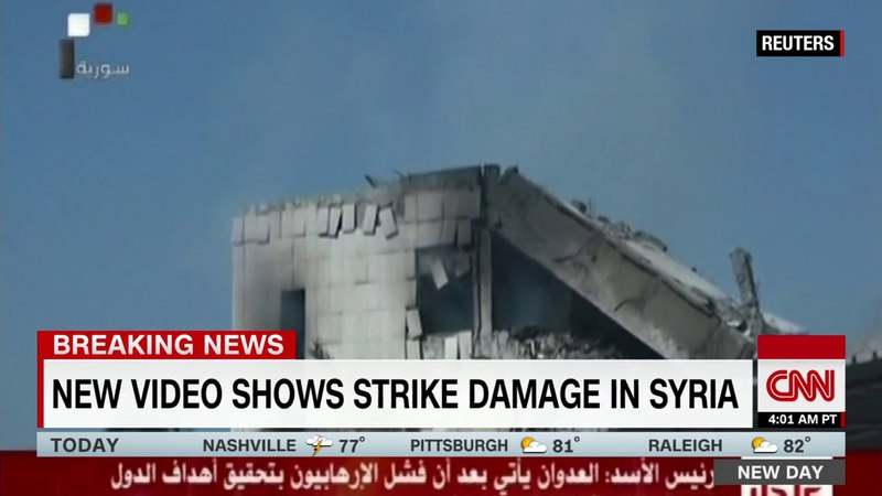 HD CNN Breaking News First look at damage on the ground in Syria 4 14 2014 7 06 AM PDT