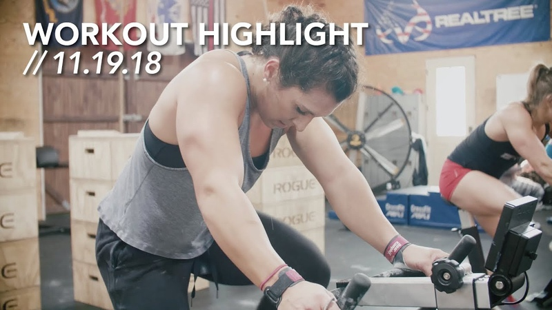 Erg MU PHSPU BBGO Sand Bag Cleans Workout Highlight 11 19 18