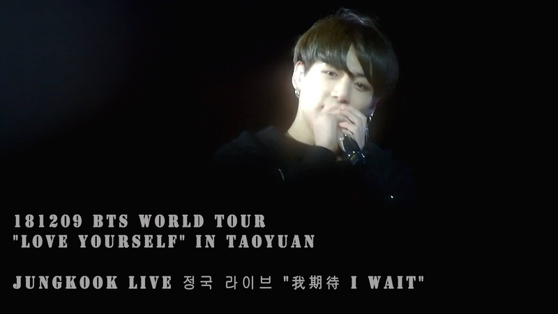 181209 BTS WORLD TOUR LOVE YOURSELF IN TAOYUAN | JUNGKOOK LIVE 정국 라이브 我期待 I WAIT
