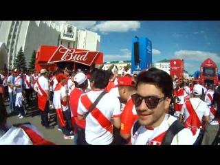 World cup 2018 vlog 01_ 30 000 peru fans in saransk! peru - denmark match atmosp