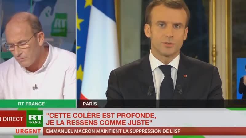 Réponse magnifique dhonnêteté dEtienne Chouard au discours dEmmanuel MACRON