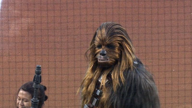 Billie Lourd Pregame for Star Wars Night