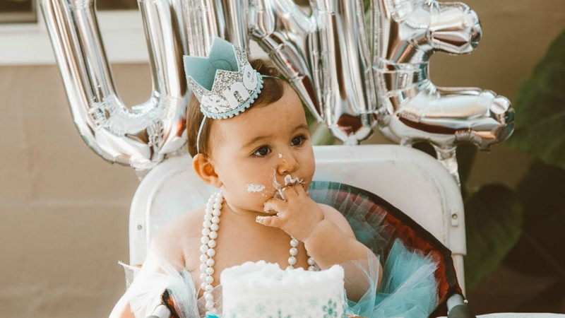 Annabelle's 1st Birthday Party Winter ONEderland Theme Hayley Paige