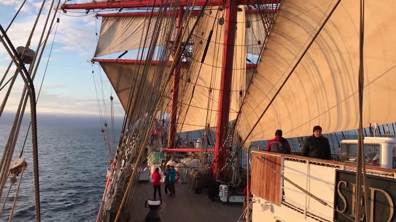 Барк «Седов», Северное море, переход из Гамбурга в Киль