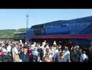 Прибытие Рэтро-поезда в Ухту