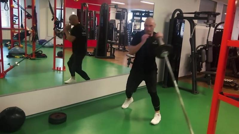 Тренировка с грифом для развития скорости и силы удара. @partner_sport