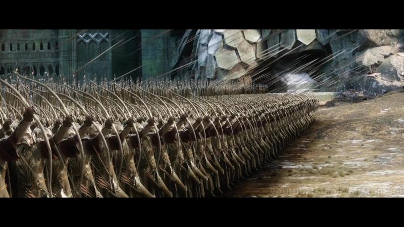 Битва между эльфами и гномами возле Одинокой Горы. Вырезанная сцена. Хоббит Битва Пяти Воинств.
