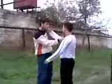 Южный Дагестан . Дагестанец против азербайджанца (ц1апаши) Охуенно перекинул азера