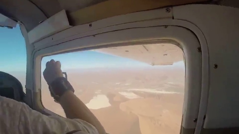 Camera Gets Sucked out of Airplane Window