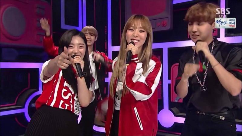 160619 Inkigayo MAMAMOO Moonbyul Wheein BTS V JHope Special MC