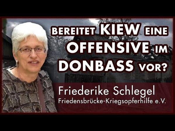 Am Telefon Friederike Schlegel Friedensbrücke e V zur Lage im Donbass in der Ostukraine