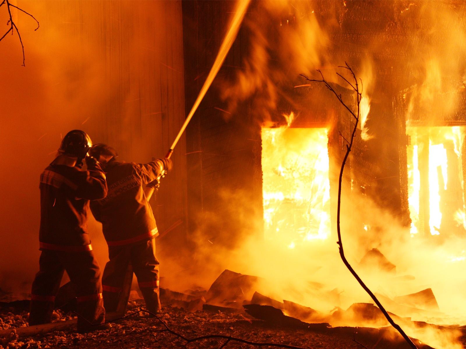 Крупный пожар в Урупском районе