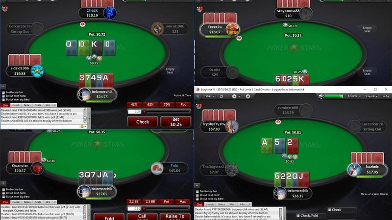 Живая сессия по Омахе ПЛО50 на ПокерСтарс! Live session PLO50 PokerStars 2