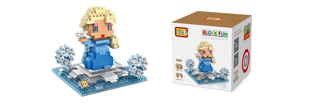 """Конструктор LOZ Diamond Block iBlock Fun """"Принцесса Эльза"""" 9497"""
