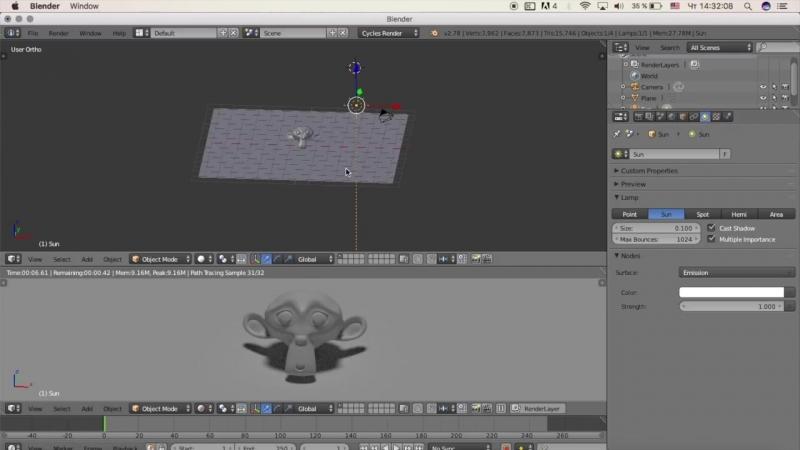 Гоша Дударь Blender 3D моделирование Урок 11 Освещение
