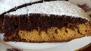 Бисквитный Пирог к Чаю Двухцветный Бисквит к Чаю за 10 минут выпечка Biscuit