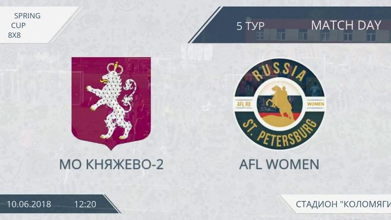 AFL women. Spring Cup 2018. Розыгрыш кубка. Финальный тур. Группа B. МО Княжево-2 - AFL women.