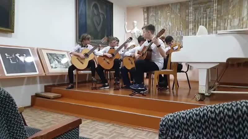 Ансамбль гитаристов Баррэ руководитель В В Губарева Веницкий Танец лесных гномов